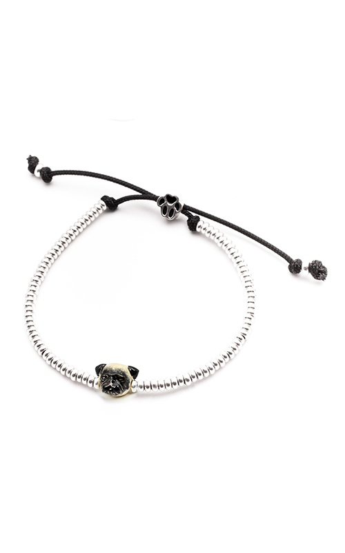 Dog Fever Enameled Head Bracelet PUG product image
