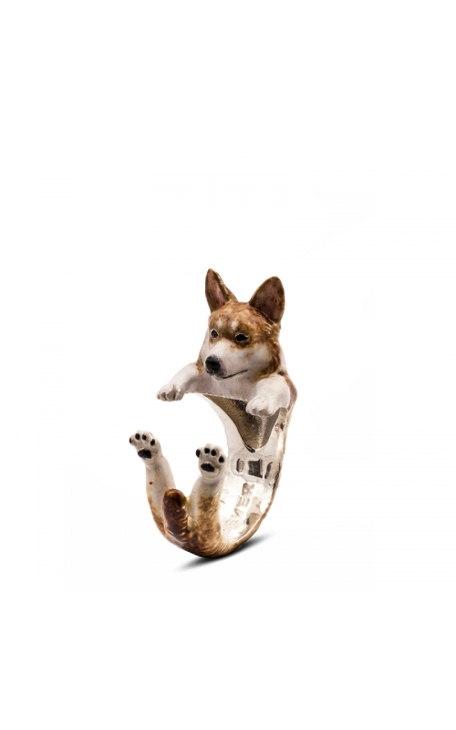 Dog Fever Enameled Hug Fashion ring WELSH CORGI product image