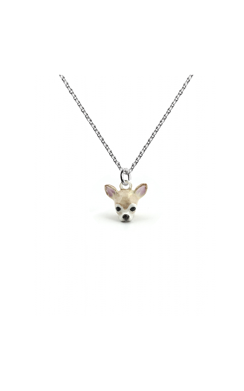 Dog Fever Enameled Head Necklace CHIHUAHUA product image
