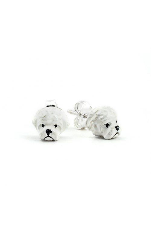 Dog Fever Enameled Head Earring MALTESE product image