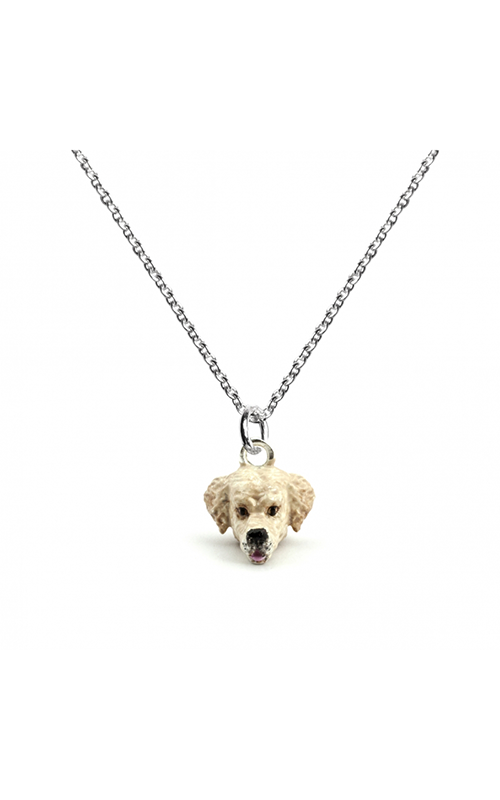 Dog Fever Enameled Head Necklace GOLDEN RETRIEVER product image