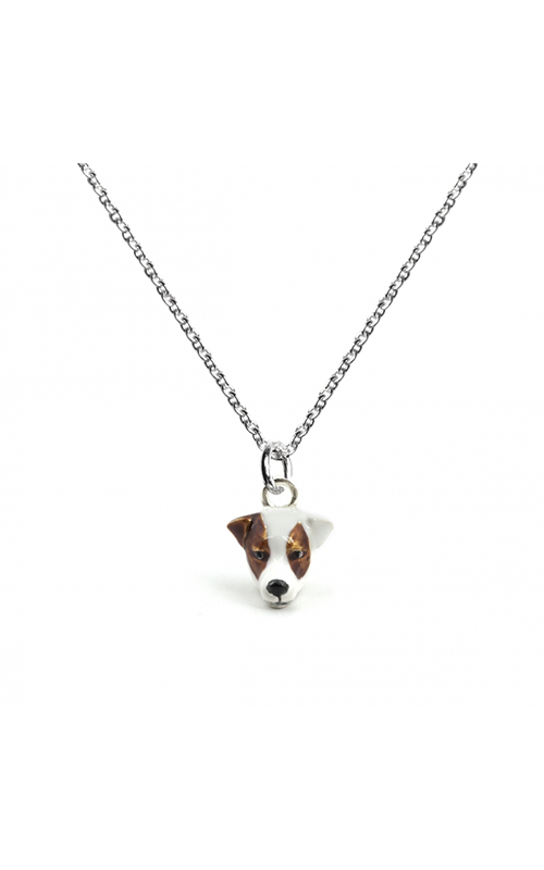 Dog Fever Enameled Head Necklace JACK RUSSEL TERRIER product image
