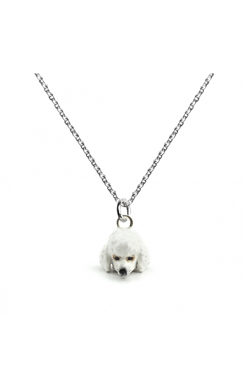 Dog Fever Enameled Head Necklace POODLE product image