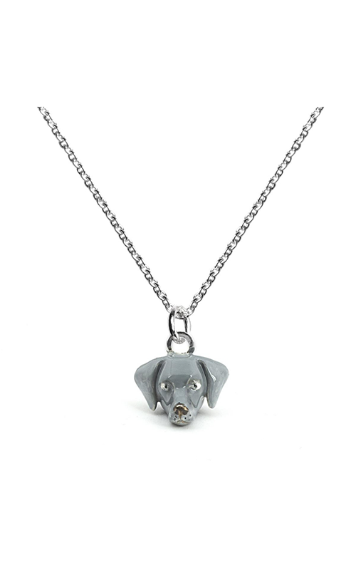 Dog Fever Enameled Head Necklace WEIMARANER product image