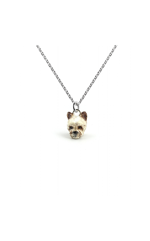 Dog Fever Enameled Head Necklace YORKSHIRE TERRIER product image
