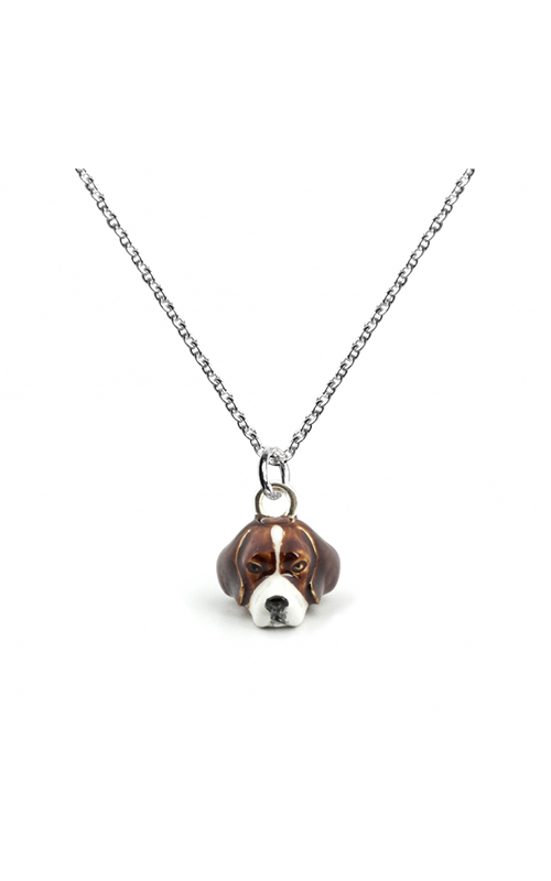 Dog Fever Enameled Head Necklace BEAGLE product image