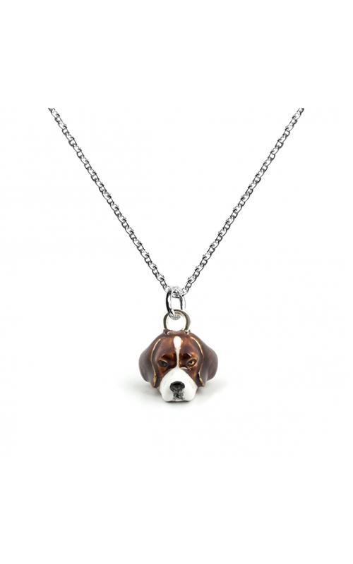 Dog Fever Enameled Head Necklace BEAGLE product image