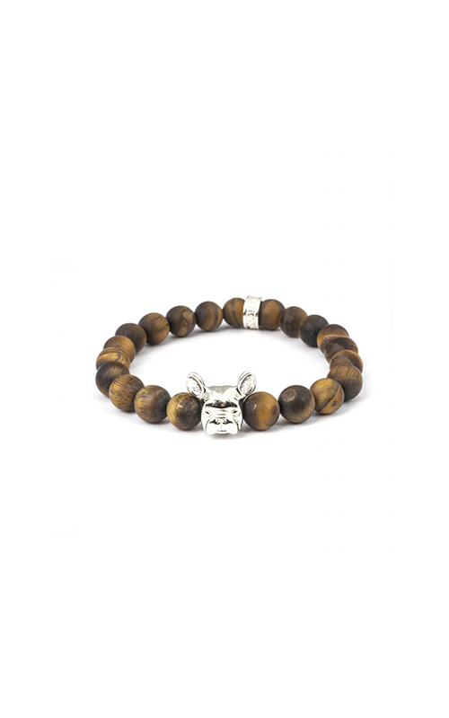 Dog Fever Tiger Eye Beads Bracelet FRENCH BULLDOG product image