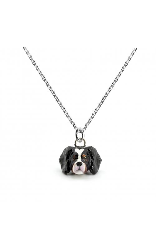 Dog Fever Enameled Head Necklace CAVALIER KING CHARLES SPANIEL product image