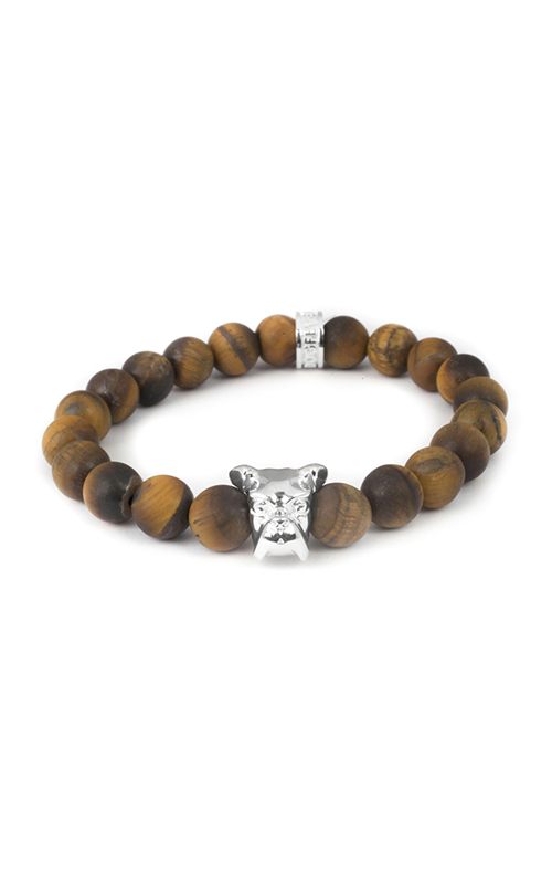 Dog Fever Tiger Eye Beads Bracelet Boxer Head product image