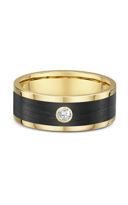 Dora Gold & Carbon FIber Wedding Band 593B02G product image