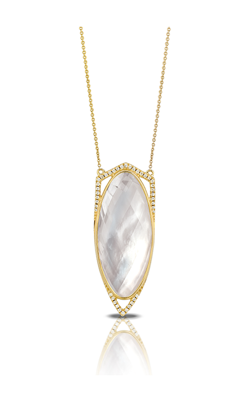 Doves by Doron Paloma White Orchid Necklace N6536WMP product image