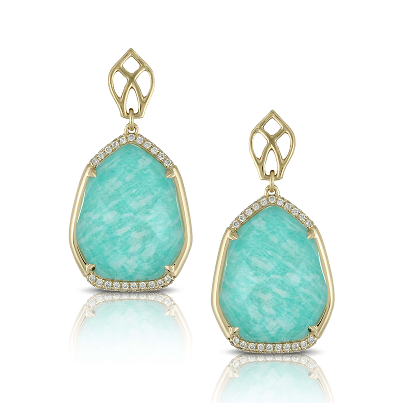 Doves by Doron Paloma Amazonite Earrings E7126AZ product image