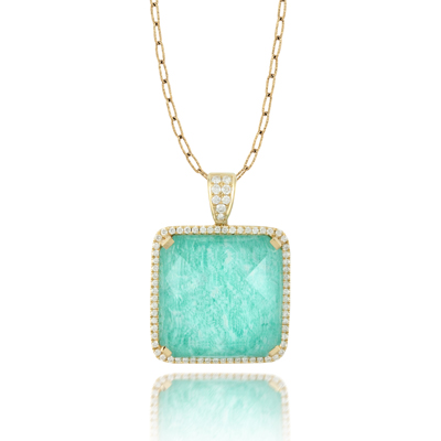 Doves by Doron Paloma Amazonite Pendant P6049AZ product image
