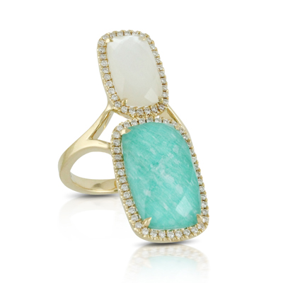 Doves Amazonite Rings R7161AZMP product image