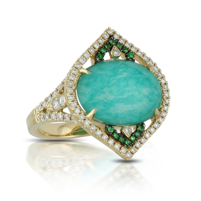 Doves Amazonite Rings R7131AZT product image