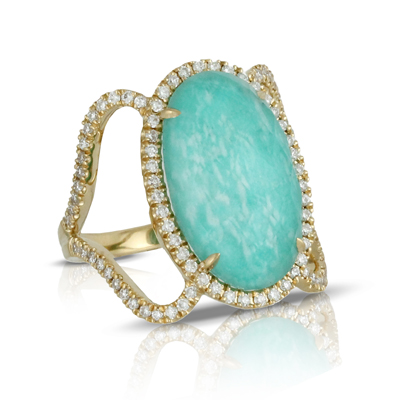 Doves Amazonite Rings R7089AZ product image