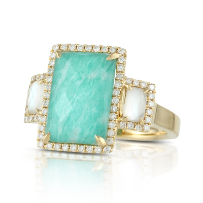 Doves Amazonite Rings R6274AZMP product image