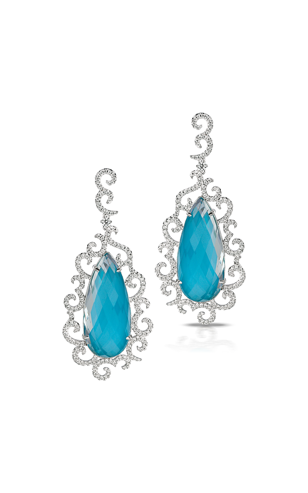 Doves by Doron Paloma St. Barths Blue Earrings E7077TQ product image