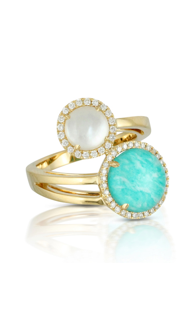 Doves Amazon Breeze Rings R6279AZMP product image