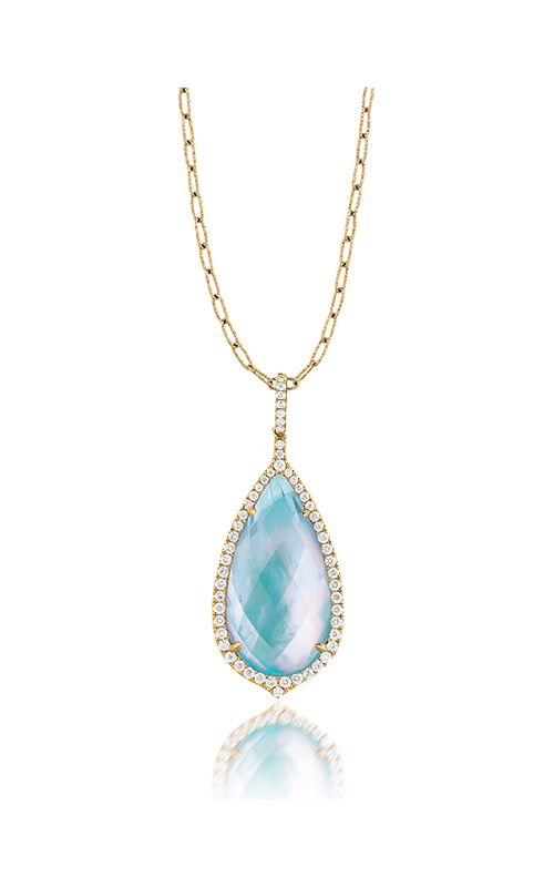 Doves by Doron Paloma St. Barths Blue Necklace P5934TQ product image