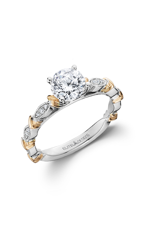 Elma Designs Bridal Collection engagement ring EDDR-707-RW product image