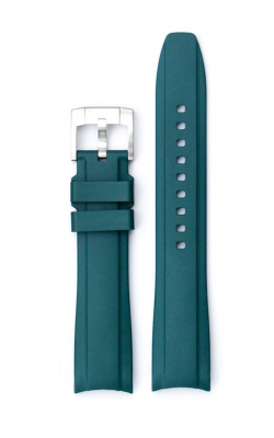 Everest Curved End Rubber Strap With Tang Buckle- Green EH5GRE product image
