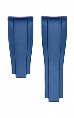 Everest Curved End Rubber Strap For Deployant - 4 Links X 4 Links - Blue EH7BLU44 product image