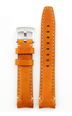 Everest Curved End Leather Strap With Tang Buckle- Saddle Tan EH8TAN product image
