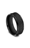 Forge Black Titanium Comfort-fit Design Wedding Band CF108497BKT08 product image