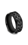 Forge Black Titanium Comfort-fit Design Wedding Band CF109672BKT08 product image