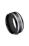 Forge Black Titanium Comfort-fit Design Wedding Band CF109759BKT08 product image