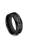 Forge Black Titanium Comfort-fit Design Wedding Band CF108839BKT08 product image