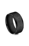 Forge Black Titanium Comfort-fit Design Wedding Band CF109357BKT08 product image