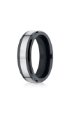 Forge Tungsten and Seranite Two-Tone Comfort-Fit Wedding Band CF67860CMTG06 product image