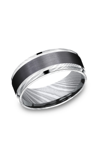 Forge Men's Wedding Bands CF118813BKTDS08