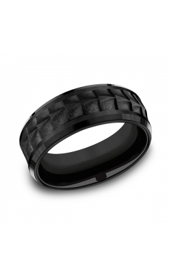 Forge Black Titanium Comfort-fit Design Wedding Band CF108765BKT12 product image
