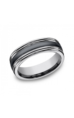 Forge Tungsten and Seranite Two-Tone Design Wedding Band RECF77863CMTG09 product image
