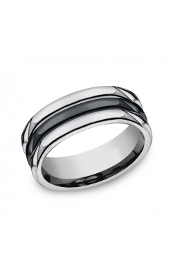 Forge Tungsten and Seranite Comfort-Fit Design Wedding Band RECF78862CMTG09 product image