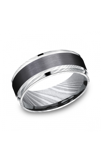 Forge Black Titanium Comfort-fit Design Wedding Band CF118813BKTDS08 product image