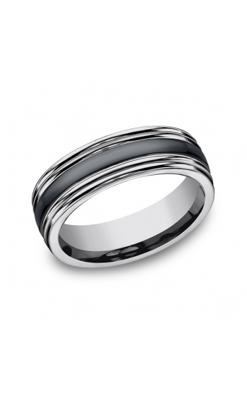Forge Tungsten and Seranite Two-Tone Design Wedding Band RECF77863CMTG06 product image