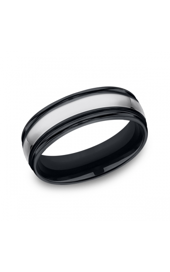 Forge Tungsten and Seranite Comfort-Fit Design Wedding Band RECF77864CMTG06 product image