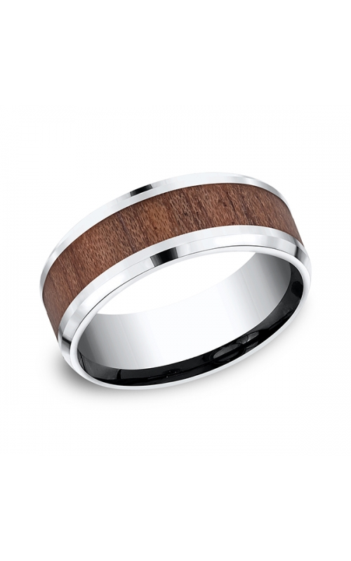 Forge Cobalt and Rosewood Comfort-Fit Design Wedding Band CF58489CC06 product image