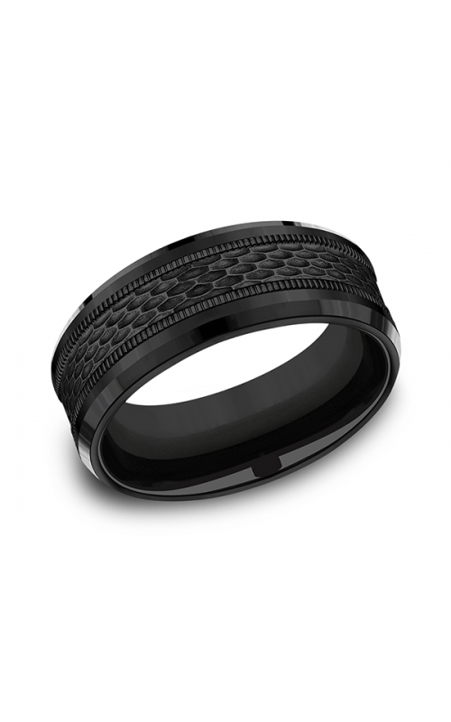 Forge Black Titanium Comfort-fit Design Wedding Band CF108497BKT08 product image