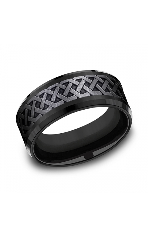 Forge Black Titanium Comfort-fit Design Wedding Band CF109361BKT08 product image