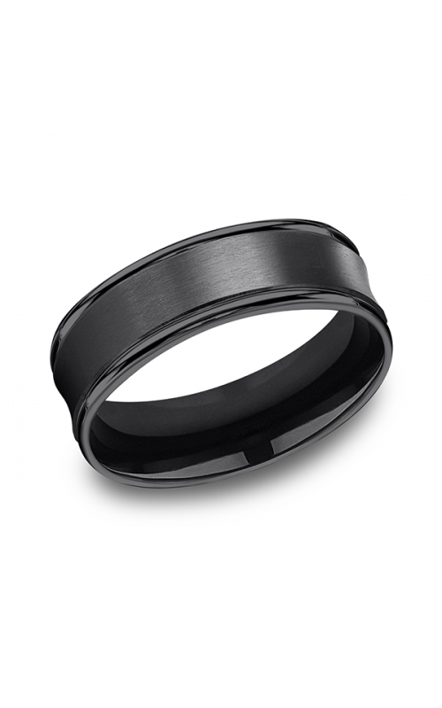 Forge Black Titanium Comfort-Fit Design Wedding Band RECF87500BKT06 product image