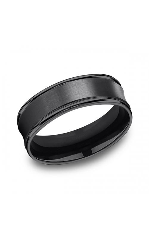 Forge Black Titanium Comfort-Fit Design Wedding Band RECF87500BKT10 product image