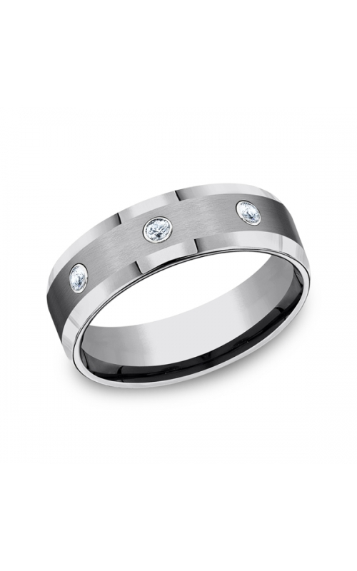 Forge Tungsten Comfort-Fit Design Diamond Wedding Band CF97601TG06 product image