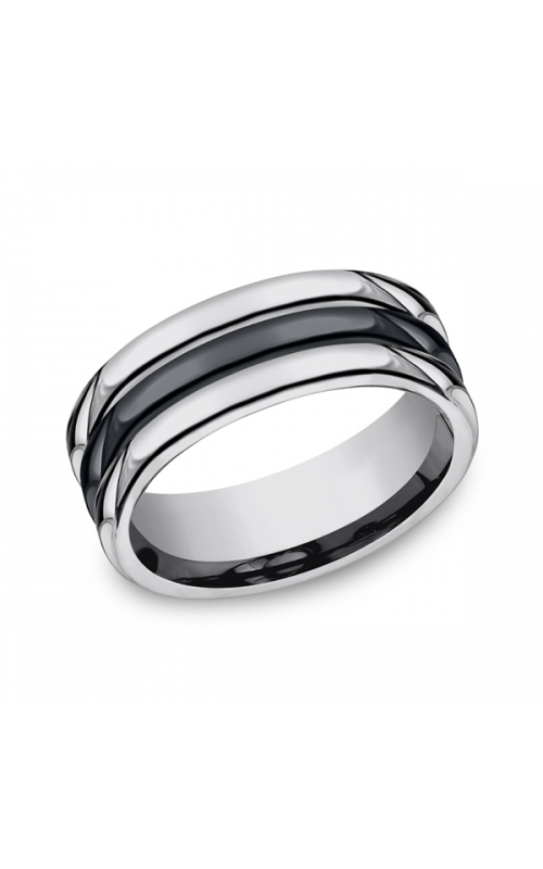 Forge Tungsten and Seranite Comfort-Fit Design Wedding Band RECF78862CMTG14 product image