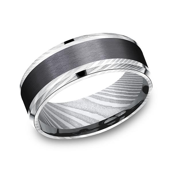 Forge Men's Wedding Bands CF118813BKTDS08 product image